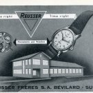 1951 Reusser Watch Company Reusser Freres SA Switzerland Vintage 1951 Swiss Ad Suisse Advert
