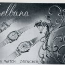 1951 Delbana Watch Company Grenchen Switzerland Vintage 1951 Swiss Ad Suisse Advert