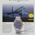 Breitling Watch Company 1994 Ad Magazine Advert Advertisement