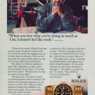 Placido Domingo Rolex Watch Company 1995 Print Ad Magazine Advert