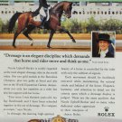 Rolex Watch Company Nicole Uphoff-Becker 1995 Print Ad Magazine Advert Horse Dressage