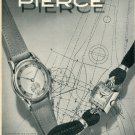 1946 Pierce Watch Company Switzerland Vintage 1946 Swiss Ad Suisse Advert Horology