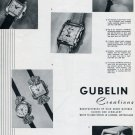 1951 Gubelin Watch Company Switzerland Vintage 1951 Swiss Ad Suisse Advert Horology