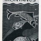 1951 Montanus Watch Company Switzerland Vintage 1951 Swiss Ad Suisse Advert Horology