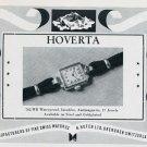 1951 Hoverta Watch Company H. Hofer Ltd. Vintage 1951 Swiss Ad Suisse Advert Switzerland