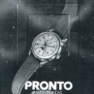 1951 Pronto Watch Company Switzerland Vintage 1951 Swiss Ad Suisse Advert Horology