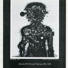 1975 Sergio Gonzalez Tornero The Hero Vintage 1975 Art Exhibition Ad Advert Advertisement