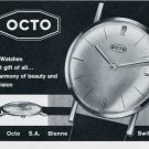 1964 Octo Watch Company Bienne Switzerland Vintage 1964 Swiss Ad Suisse Advert Horology