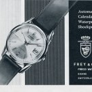 1964 Frey & Co. Watch Company Freco Switzerland Vintage 1964 Swiss Ad Suisse Advert