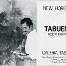 1975 Tabuena Vintage 1975 Art Exhibition Ad Advert Galeria Tasende Acapulco Mexico