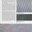 1975 Bridget Riley Color As Image Vintage 1975 Magazine Article by Bryan Robertson