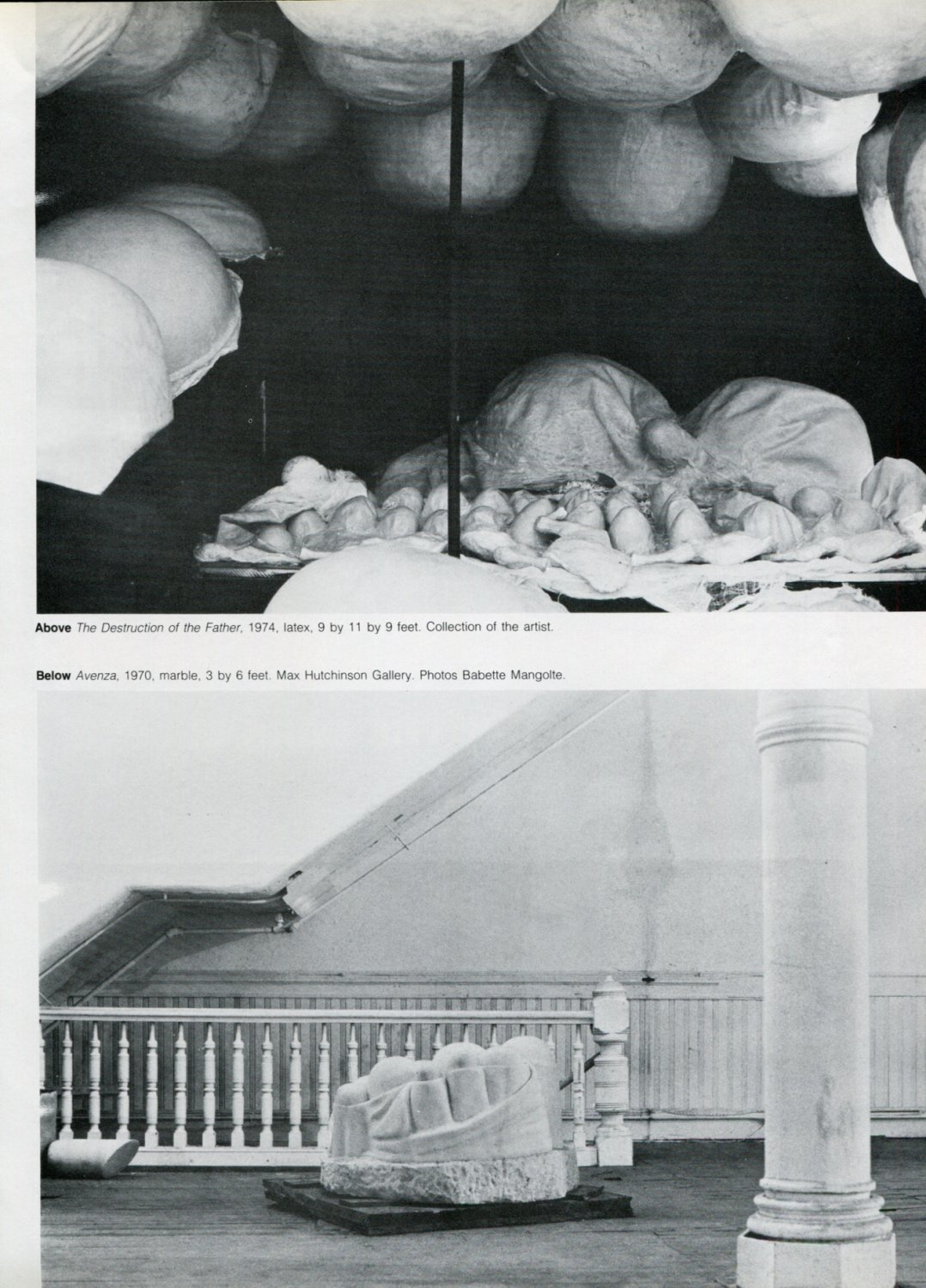 1975 Louise Bourgeois An Iconography of Abstraction 1975 Magazine Article by Carl R. Baldwin