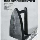 1975 Man Ray Cadeau 1921 Advert Vintage 1975 Art Ad Magazine Advertisement