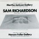 1975 Sam Richardson Vintage 1975 Art Exhibition Ad Advert Martha Jackson Gallery Hansen Fuller