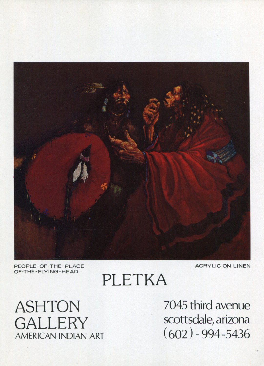 1974 Pletka People of the Place of the Flying Head Advert Vintage 1974 Art Ad Advertisement