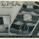 1946 Olma Watch Company Numa Jeannin SA Switzerland Vintage 1946 Swiss Ad Suisse Advert