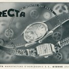 1946 Recta Watch Company Bienne Switzerland Vintage 1946 Swiss Ad Suisse Advert Horology