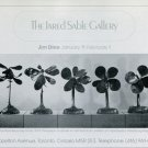 1975 Jim Dine Plant Becomes a Fan Advert Vintage 1975 Art Exhibition Ad Advertisement