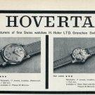 1959 Hoverta Watch Company H. Hofer Switzerland Vintage 1959 Swiss Ad Suisse Advert