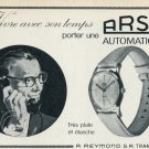 1959 Arsa Watch Company Switzerland Vintage 1959 Swiss Ad Suisse Advert A. Reymond Horology