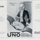 1956 Uno Watch Company Georges Dimier SA Switzerland Vintage 1956 Swiss Ad Suisse Advert