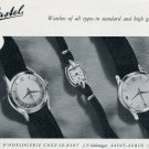 1955  Le Castel Watch Company Switzerland Vintage 1955 Swiss Ad Suisse Advert Horology