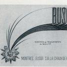 1955 Busga Watch Company Switzerland Vintage 1955 Swiss Ad Suisse Advert Horology