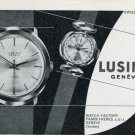 1965 Lusina Watch Company Pamm Freres Switzerland Vintage 1965 Swiss Ad Suisse Advert
