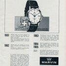 1965 Marvin Watch Company La Chaux-de-Fonds Switzerland Vintage 1965 Swiss Ad Suisse Advert