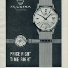 1965 Tradition Watch Company Reusser Watch Co. Vintage 1965 Swiss Ad Suisse Advert