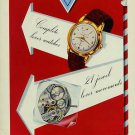 1954 Reusser Watch Company Reusser Freres SA Switzerland Vintage 1954 Swiss Ad Suisse Advert