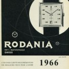 Vintage 1965 Rodania Watch Company Switzerland Swiss Magazine Ad Advert