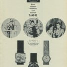 Vintage 1965 Sandoz Watch Company Switzerland 1965 Swiss Ad Suisse Advert