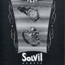 1951 Solvil Watch Company Switzerland Paul Ditisheim S.A. Vintage 1951 Swiss Ad Suisse Advert