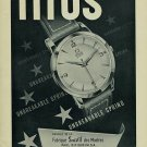 1954 Titus Watch Company Geneva Switzerland Vintage 1954 Swiss Ad Suisse Advert Horology
