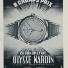 1951 Ulysse Nardin Watch Company Le Locle Switzerland Vintage 1951 Swiss Ad Suisse Advert Horology