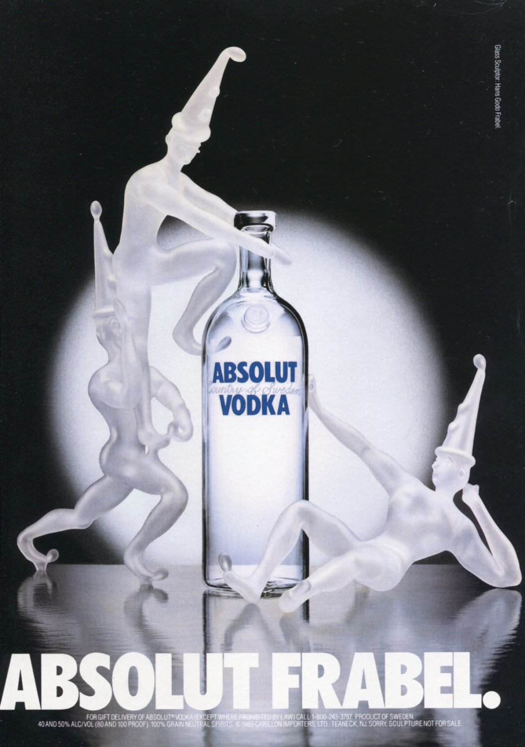Hans Godo Frabel Absolut Frabel Absolut Vodka Ad Advert Magazine Advertisement