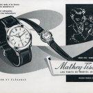 Vintage 1957 Mathey-Tissot Watch Company Les Ponts-de-Martel Switzerland Swiss Magazine Ad Advert