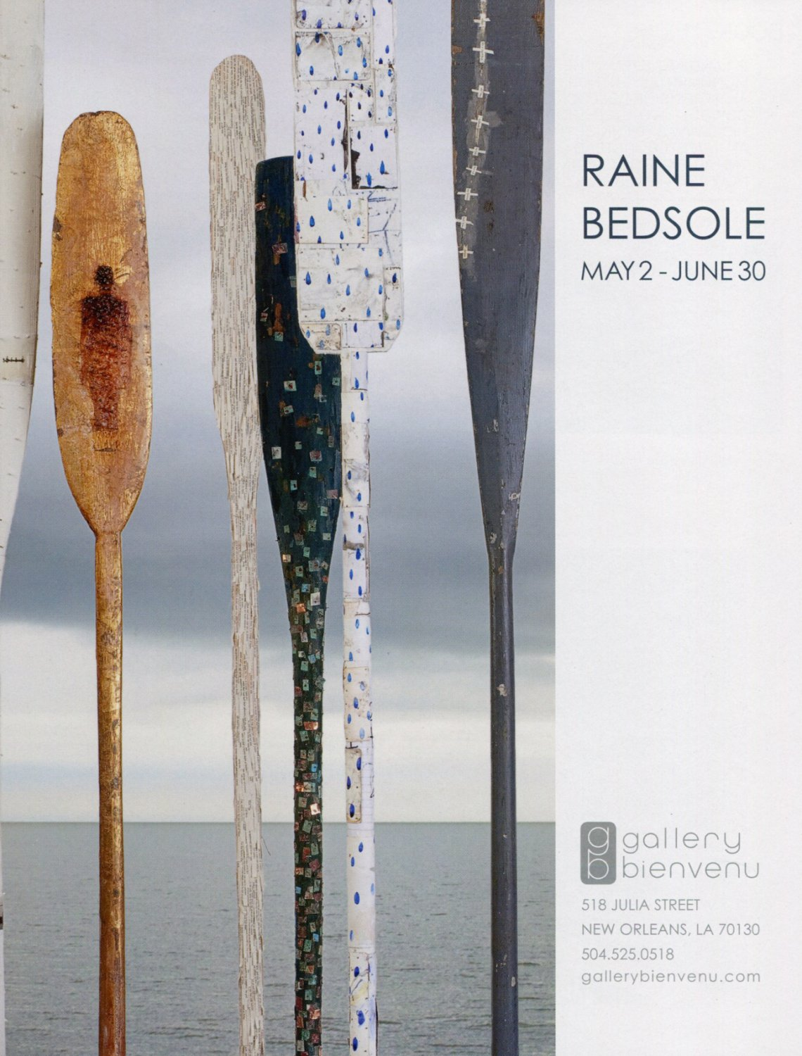 Raine Bedsole 2009 Art Exhibition Ad Advert Gallery Bienvenu New Orleans LA