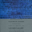 Elizabeth Enders Notes in Blue 1994 Art Exhibition Ad Advert