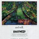 Hundertwasser 1994 Art Exhibition Ad Advert Green Town
