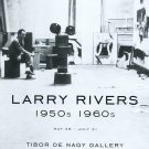 Larry Rivers 1950s 1960s 2009 Art Exhibition Ad Advert Tibor de Nagy