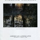 William Nichols Eventide 1997 Art Exhibition Ad Advert American Landscapes