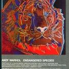 Andy Warhol Siberian Tiger Endangered Species Art Ad Advert Magazine Advertisement