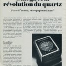 1976 Omega Watch Company Revolution Quartz 1976 Swiss Ad Suisse Advert Schweiz