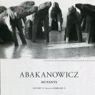 Abakanowicz Mutants 1997 Art Exhibition Ad Advert