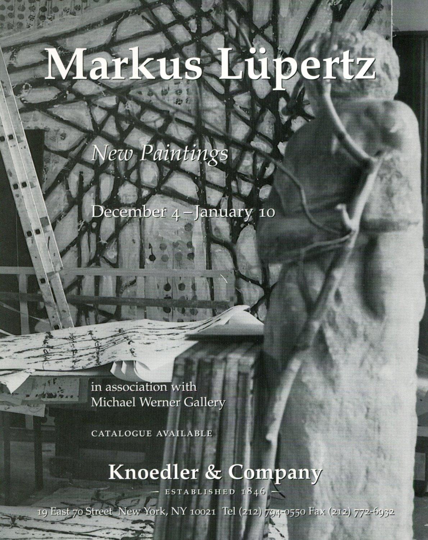 Markus Lupertz 1997-1998 Art Exhibition Ad Advert Knoedler & Co.