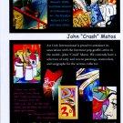 John Crash Matos 2002 Art Ad Advert