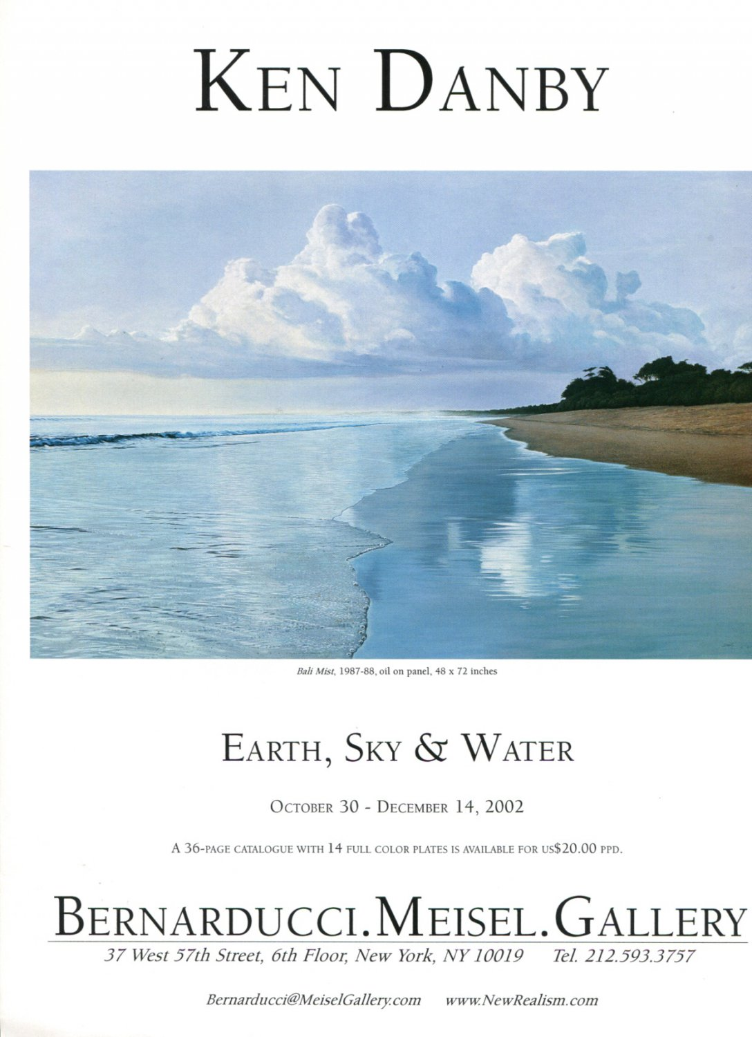Ken Danby Earth Sky & Water 2002 Art Exhibition Ad Advert