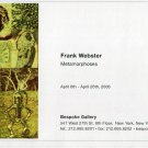 Frank Webster Metamorphoses 2006 Art Exhibition Ad Advert